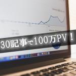 30記事で月間100万PV!特化型ブログのトレンドアフィリで大量にアクセスを集めた方法