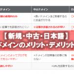アフィリエイトブログで使うドメインの種類(新規・中古・日本語)メリット・デメリット